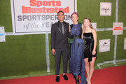 2019  Mater Dei QB Bryce Young, Professional Soccer Player Megan Rapinoe, and Sports Illustrated Kids SportsKid of the Year, Ally Sentnor attend the 2019 Sports Illustrated Sportsperson Of The Year at The Ziegfeld Ballroom on December 09, 2019 in New York City.