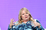 Julie Plec attends 2019 Summer TCA Press Tour - Day 13 at The Beverly Hilton Hotel on August 04, 2019 in Beverly Hills, California.