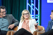 "Ty Burrell, Amy Poehler and Michael Thorn of ""Bless the Harts"" and ""Duncanville"" speak during the Fox segment of the 2019 Summer TCA Press Tour at The Beverly Hilton Hotel on August 7, 2019 in Beverly Hills, California."