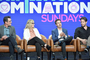 "Ty Burrell, Amy Poehler, Michael Thorn and Ike Barinholtz of ""Bless the Harts"" and ""Duncanville"" speak during the Fox segment of the 2019 Summer TCA Press Tour at The Beverly Hilton Hotel on August 7, 2019 in Beverly Hills, California."