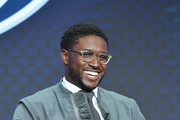Reggie Bush of Fox Sports speaks during the Fox segment of the 2019 Summer TCA Press Tour at The Beverly Hilton Hotel on August 7, 2019 in Beverly Hills, California.