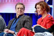 (L-R) John Goodman and Cassidy Freeman of 'The Righteous Gemstones' speak during the HBO segment of the Summer 2019 Television Critics Association Press Tour 2019 at The Beverly Hilton Hotel on July 24, 2019 in Beverly Hills, California.