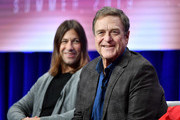 (L-R) Jody Hill and John Goodman of 'The Righteous Gemstones' speak during the HBO segment of the Summer 2019 Television Critics Association Press Tour 2019 at The Beverly Hilton Hotel on July 24, 2019 in Beverly Hills, California.