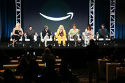 (L-R) Shakina Nayfack, Faith Soloway, Jill Soloway, Judith Light, Alexandra Billings, Amy Landecker and Jay Duplass of 'Transparent' speak onstage during the Amazon Prime Video segment of the Summer 2019 Television Critics Association Press Tour at The Beverly Hilton Hotel on on July 27, 2019 in Beverly Hills, California.