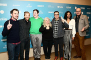 """Rhys Thomas, Alex Buono, Richard Kind, Paula Pell, Fred Armisen, and Renee Elise Goldsberry attend the """"Documentary Now!"""" Season 52 Preview during the 2019 Sundance Film Festival at Egyptian Theatre on January 27, 2019 in Park City, Utah."""