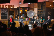 Nick Adams, Rhys Ernst, Rain Valdez, Alexandra Grey, and James Schamus onstage at the GLAAD Hosts Beyond The Transition Narrative: Transgender Storytelling In The 21st Century Panel during the 2019 Sundance Film Festival  at Filmmaker Lodge on January 29, 2019 in Park City, Utah.