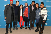 """(L-R) Actor Jonathan Majors, producers Jeremy Kleiner and Christina Oh, director Joe Talbot, actor Jimmie Fails, producer Khaliah Neal, and actor Tichina Arnold attends the """"The Last Black Man In San Francisco"""" Premiere during the 2019 Sundance Film Festival at Eccles Center Theatre on January 26, 2019 in Park City, Utah."""