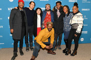 """(Back row L-R) Actor Jonathan Majors, producers Jeremy Kleiner and Christina Oh, director Joe Talbot, actor Jimmie Fails, producer Khaliah Neal, actor Tichina Arnold, (front row) and actor Rob Morgan attend the """"The Last Black Man In San Francisco"""" Premiere during the 2019 Sundance Film Festival at Eccles Center Theatre on January 26, 2019 in Park City, Utah."""
