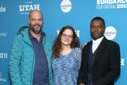 """(L-R) Jacob Estes, Heidi Zwicker and David Oyelowo attend the """"Relive"""" Premiere during the 2019 Sundance Film Festival  at The Marc Theatre on January 27, 2019 in Park City, Utah."""