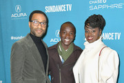 """(L-R) Chiwetel Ejiofor, Maxwell Simba and Aissa Maiga attend Salt Lake Opening Night Screening Of """"The Boy Who Harnessed The Wind"""" Presented By Zions Bank during 2019 Sundance Film Festival at Rose Wagner Theatre on January 25, 2019 in Park City, Utah."""