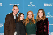 """(L-R) Co-director Dan Madison Savage, actress Kaitlyn Dever, co-director Britt Poulton, and actress Alice Englert attend the """"Them That Follow"""" Premiere during the 2019 Sundance Film Festival  at Eccles Center Theatre on January 27, 2019 in Park City, Utah."""