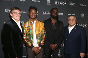 (L-R) Anthony Russo, Shamier Anderson, Stephan James and Joseph Russo attend the 4th Annual B.L.A.C.K Ball during the 2019 Toronto International Film Festival at TIFF Bell Lightbox on September 09, 2019 in Toronto, Canada.