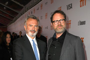 (L-R) Sam Neill and Rainn Wilson attend the 'Blackbird' premiere during the 2019 Toronto International Film Festival at Roy Thomson Hall on September 06, 2019 in Toronto, Canada.