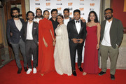 "(L-R) Roshan Mathew, Shashank Arora, Rif Dagher, Sobhita Dhulipala, Ajay Rai, Geetu Mohandas, S. Vinod Kumar, Nivin Pauly, Melissa Raju Thomas, and Anurag Kashyap attend the ""The Elder One"" photo call during the 2019 Toronto International Film Festival at Winter Garden Theatre on September 11, 2019 in Toronto, Canada."