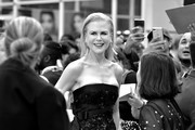 """Image has been converted to black and white. Color version available.) Nicole Kidman attends """"The Goldfinch"""" premiere during the 2019 Toronto International Film Festival at Roy Thomson Hall on September 08, 2019 in Toronto, Canada."""