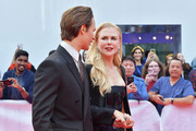 """(L-R) Ansel Elgort and Nicole Kidman attend """"The Goldfinch"""" premiere during the 2019 Toronto International Film Festival at Roy Thomson Hall on September 08, 2019 in Toronto, Canada."""