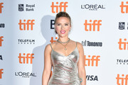 "Scarlett Johansson attends the ""Jojo Rabbit"" premiere during the 2019 Toronto International Film Festival at Princess of Wales Theatre on September 08, 2019 in Toronto, Canada."