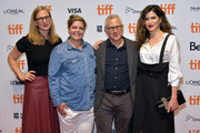 "(L-R) Helen Estabrook, Amy Gravitt, Tom Perrotta, and Kathryn Hahn attend the ""Mrs. Fletcher"" premiere during the 2019 Toronto International Film Festival at TIFF Bell Lightbox on September 10, 2019 in Toronto, Canada."