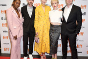 "(L-R) Zahra Bentham, Calvin Thomas,  Amber Anderson, Kacey Rohl and Yonah Lewis attend the ""White Lie"" photo call during the 2019 Toronto International Film Festival at TIFF Bell Lightbox on September 07, 2019 in Toronto, Canada."
