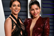 Preeti Desai (L) and Freida Pinto attend the 2019 Vanity Fair Oscar Party hosted by Radhika Jones at Wallis Annenberg Center for the Performing Arts on February 24, 2019 in Beverly Hills, California.