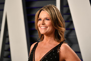 Savannah Guthrie attends the 2019 Vanity Fair Oscar Party hosted by Radhika Jones at Wallis Annenberg Center for the Performing Arts on February 24, 2019 in Beverly Hills, California.
