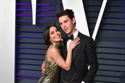 Vanessa Hudgens (L) and Austin Butler attends the 2019 Vanity Fair Oscar Party hosted by Radhika Jones at Wallis Annenberg Center for the Performing Arts on February 24, 2019 in Beverly Hills, California.