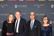 Gloria Steinem,Francois-Henri Pinault, Darren Walker, President of the Ford Foundation and Sally Field attend the 2019 Vital Voices Solidarity Awards at IAC Building on December 09, 2019 in New York City.