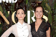 Roberta Armani and Emmy Rossum attend the 2019 WWD Honors at Intercontinental New York Barclay on October 29, 2019 in New York City.