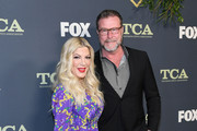 Tori Spelling and Dean McDermott attend Fox Winter TCA at The Fig House on February 06, 2019 in Los Angeles, California.