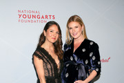 (L-R) Khirma Eliazov and Sarah Arison attend the YoungArts New York Gala at the Metropolitan Museum on April 16, 2019 in New York City.