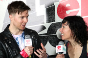 <<EDITORIAL USE ONLY. NO COMMERCIAL USE>> (L-R) Matt Johnson and Kim Schifino of Matt and Kim are seen backstage during 2019 iHeartRadio ALTer Ego at The Forum on January 19, 2019 in Inglewood, California.