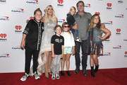 (L-R) Liam McDermott, Tori Spelling, Finn McDermott, Hattie McDermott, Beau McDermott, Dean McDermott and Stella McDermott attend the 2019 iHeartRadio Music Festival and Daytime Stage at T-Mobile Arena on September 20, 2019 in Las Vegas, Nevada.