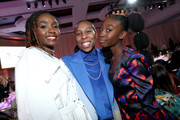 (L-R) Kiki Layne, Lena Waithe, and Shahadi Wright Joseph attend the 2020 13th Annual ESSENCE Black Women in Hollywood Luncheon at Beverly Wilshire, A Four Seasons Hotel on February 06, 2020 in Beverly Hills, California.