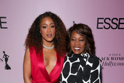 Eve and Alfre Woodard attend the 2020 13th Annual ESSENCE Black Women in Hollywood Luncheon at Beverly Wilshire, A Four Seasons Hotel on February 06, 2020 in Beverly Hills, California.
