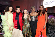 (L-R) Melina Matsoukas, Brittany Howard, Robin Thede, Yvonne Orji, and Issa Rae attend the 2020 13th Annual ESSENCE Black Women in Hollywood Luncheon at Beverly Wilshire, A Four Seasons Hotel on February 06, 2020 in Beverly Hills, California.