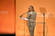 Tory Burch speaks onstage during the 2020 Embrace Ambition Summit by the Tory Burch Foundation at Jazz at Lincoln Center on March 05, 2020 in New York City.