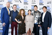(2nd from L-R) Joe Pirro, Natalia Domoratskaya, Hong Chau, Andrew Ahn, and Stephen Mao attend the 2020 Film Independent Spirit Awards on February 08, 2020 in Santa Monica, California.