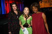 (L-R) Idina Menzel, Lulu Wang, who accepted Best Supporting Female for 'The Farewell' on behalf of winner Zhao Shuzhen, and Alfre Woodard attend the 2020 Film Independent Spirit Awards on February 08, 2020 in Santa Monica, California. (Photo by Amy Sussman/Getty Images for Film Independent