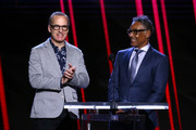 (L-R) Bob Odenkirk and Giancarlo Esposito speak onstage during the 2020 Film Independent Spirit Awards on February 08, 2020 in Santa Monica, California.