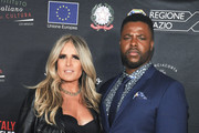 Tiziana Rocca and Winston Duke attend  the 2020 Filming Italy Awards at the Italian Cultural Institute on January 22, 2020 in Los Angeles, California.