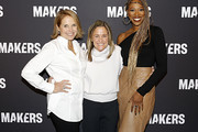 (L-R) Katie Couric, Founder & Executive Producer of MAKERS Dyllan McGee, and Yvonne Orji attend The 2020 MAKERS Conference on February 11, 2020 in Los Angeles, California.