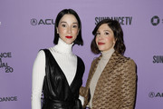 St. Vincent and Carrie Brownstein . attend the 2020 Sundance Film Festival Cinema Cafe With Carrie Brownstein And St. Vincent at Filmmaker Lodge on January 25, 2020 in Park City, Utah.