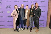 """Carrie Coon, Sean Durkin, Oona Roche, Charlie Shotwell and Jude Law attend the 2020 Sundance Film Festival - """"The Nest"""" Premiere at Eccles Center Theatre on January 26, 2020 in Park City, Utah."""