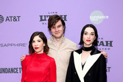 "Carrie Brownstein, Bill Benz and Annie Clark attend the 2020 Sundance Film Festival - ""The Nowhere Inn"" Premiere at Library Center Theater on January 25, 2020 in Park City, Utah."