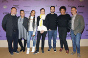 (L-R) Ai Weiwei, Tabitha Jackson, Kerry Washington, Julie Taymor, Lin-Manuel Miranda, Carrie Mae Weems, and John Nein attends the 2020 Sundance Film Festival - Power Of Story: Just Art Panel at Egyptian Theatre on January 25, 2020 in Park City, Utah.