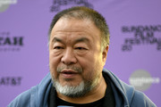 """Director Ai Weiwei attends the """"Vivos"""" premiere during the 2020 Sundance Film Festival at The Marc Theatre on January 24, 2020 in Park City, Utah."""