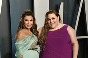 Paula Abdul and Chrissy Metz attend the 2020 Vanity Fair Oscar Party hosted by Radhika Jones at Wallis Annenberg Center for the Performing Arts on February 09, 2020 in Beverly Hills, California.