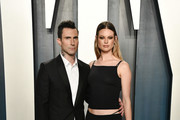 Adam Levine and Behati Prinsloo attends the 2020 Vanity Fair Oscar Party hosted by Radhika Jones at Wallis Annenberg Center for the Performing Arts on February 09, 2020 in Beverly Hills, California.