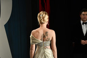 Scarlett Johansson (back detail) attends the 2020 Vanity Fair Oscar Party hosted by Radhika Jones at Wallis Annenberg Center for the Performing Arts on February 09, 2020 in Beverly Hills, California.