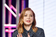 """Alyson Hannigan of """"Girl Scout Cookie Championship"""" speaks during the Food Network segment of the 2020 Winter TCA Press Tour at The Langham Huntington, Pasadena on January 16, 2020 in Pasadena, California."""